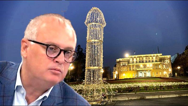 Ispred Vesićeve rezidencije zasijao ZLATNI PENIS