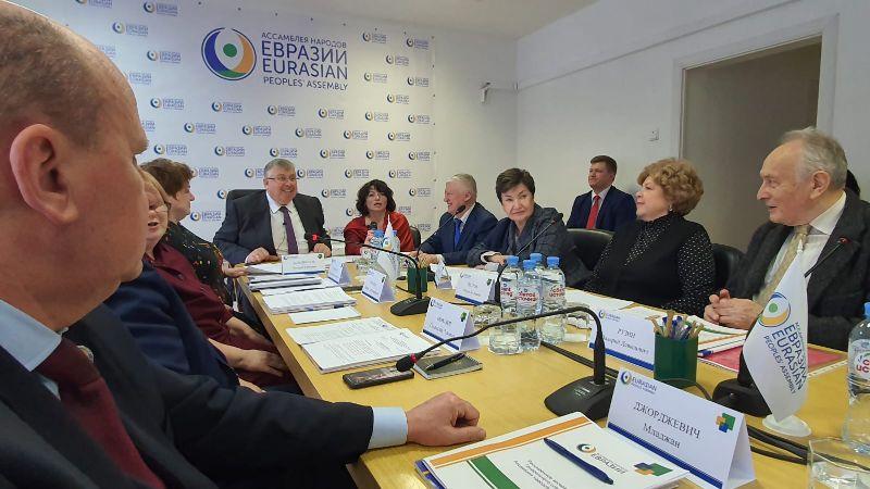 Đorđević na sednici Skupštine naroda Evroazije