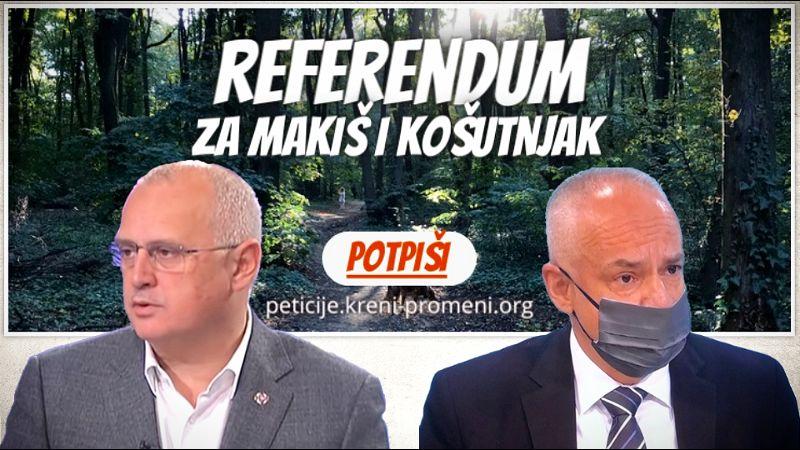 Građani traže od Vesića i Radojičića REFERENDUM ZA MAKIŠ I KOŠTUNJAK! Do sada preko 26.000 građana potisalo peticiju, pridružite im se!