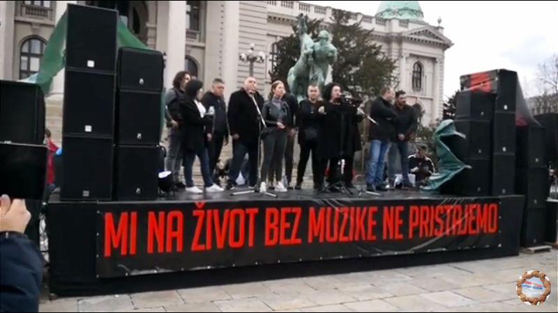 Protest muzičara: Pustite nas da radimo
