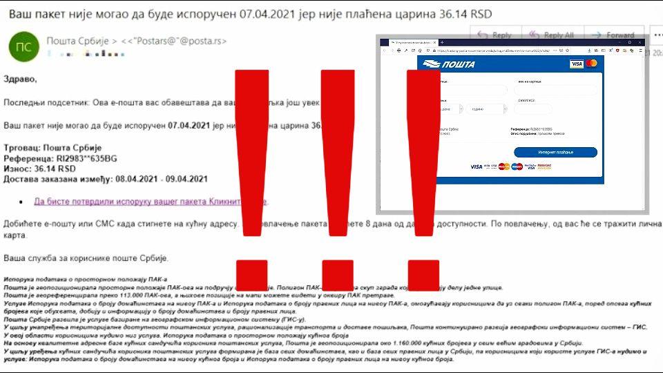 """VAŽNO UPOZORENJE ZA GRAĐANE! Internetom kruži opasna prevara – ako vidite ovu poruku od """"Pošte Srbije"""" nipošto ne nasedajte"""