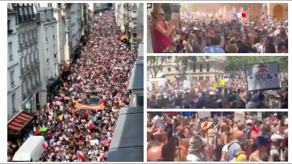 HILJADE LJUDI NA ULICAMA: Protesti protiv Makronovih mera (VIDEO)