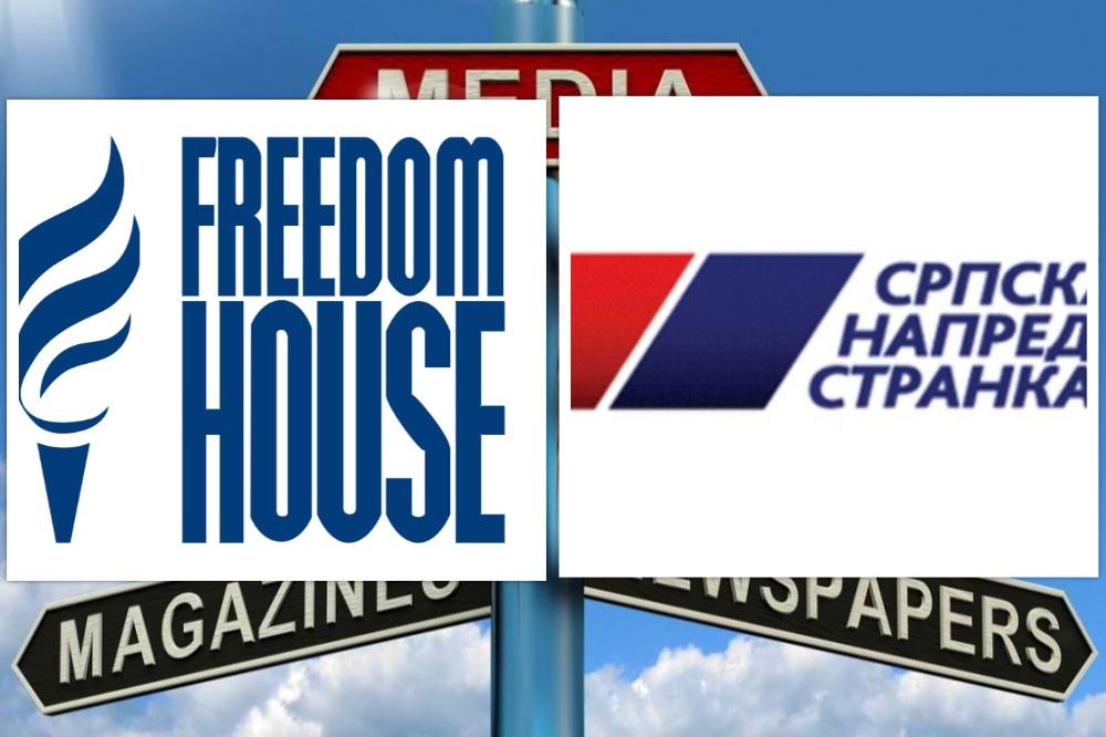 Fridom haus: SNS nastavlja pritisak na nezavisne medije, opoziciju i NVO