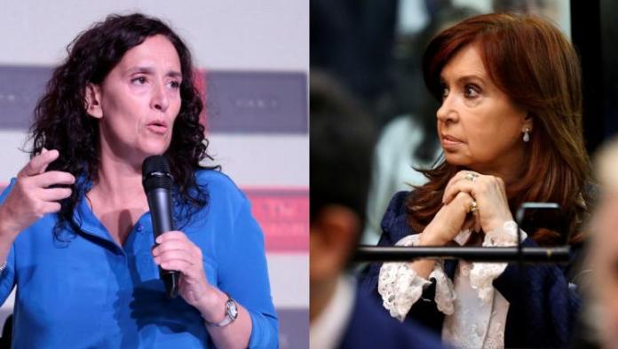 Gabriela michetti y Cristina Kirchner, enfrentadas