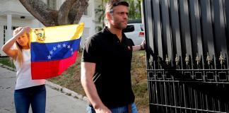 Leopoldo López estaba refugiado en la Embajada española