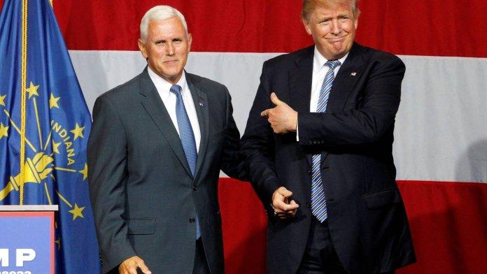 Mike Pence y Donald Trump limaron diferencias