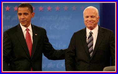 McCain & Obama In Hempstead, Long IslandNY For Their Last Debate