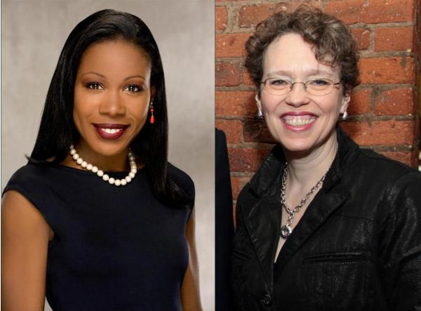 Isabel Wilkerson (l) and Cathy Stewart