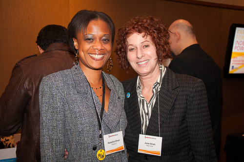 Natesha Oliver and June Hirsh (R)