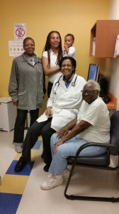 Dr. Jessie Fields with patients in Harlem