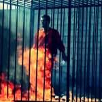 Burning Jordanian Pilot