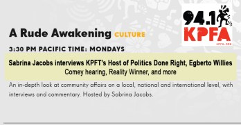 KPFA's Sabrina Jacobs interviews KPFT's Host of Politics Done Right, Egberto Willies
