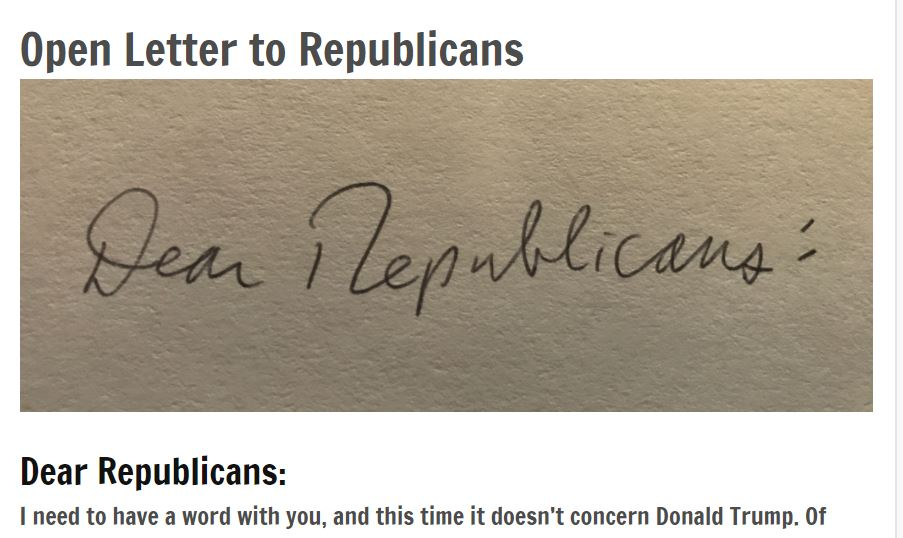 Open Letter to Republicans
