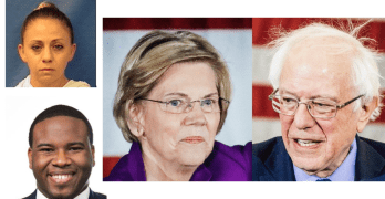 Cop convicted Wealth tax Sanders Warren