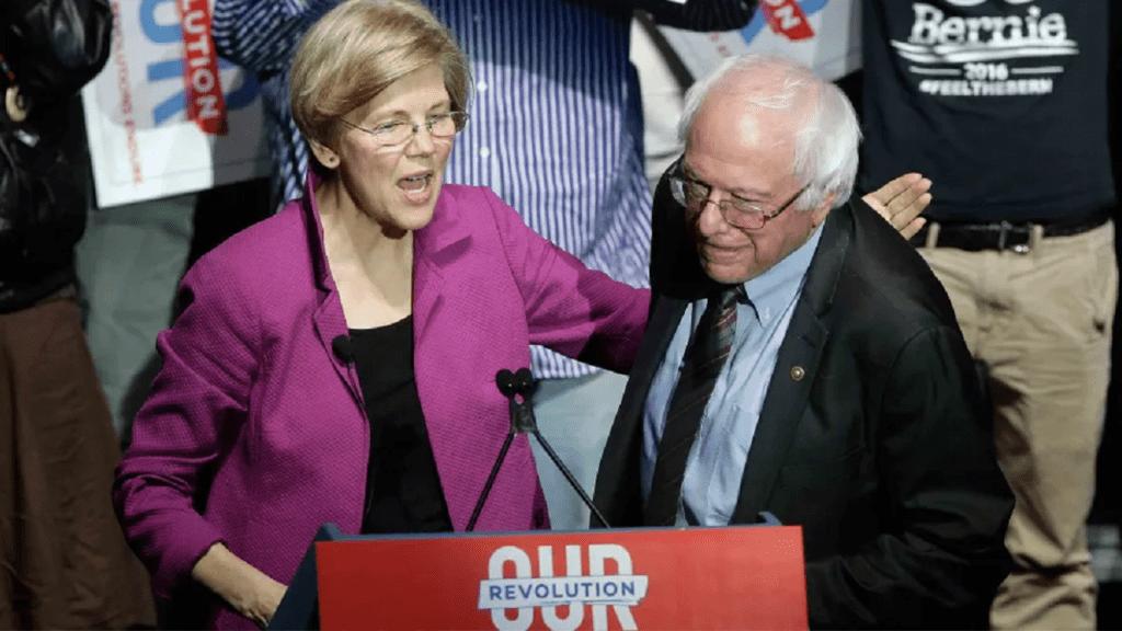 Bernie Sanders Elizabeth Warren Left Wing Hell no