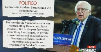 Corporate Media forced to cover Bernie Sanders rise