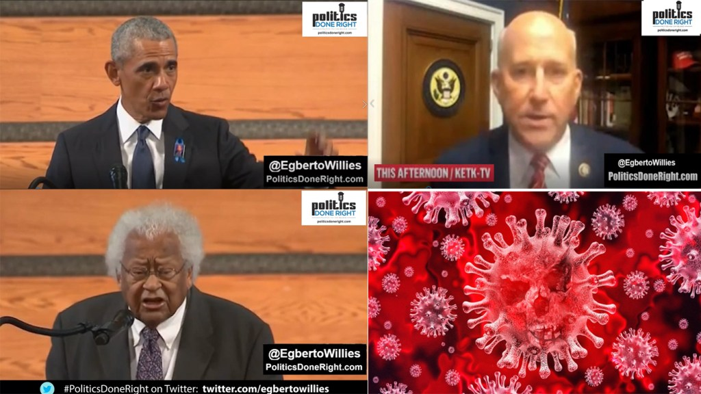 Obama urges Americans to fight like John Lewis - COVID comes to roost