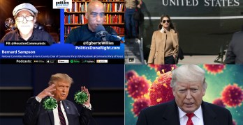 Trump, mass spreader gets COVID, Bernard Sampson of CPUSA, an existential message