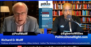 Richard Wolff discusses his new ebook The Sickness is the System