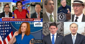 Greg Abbott neutered. Infrastructure bills ALL or NOTHING. Psaki - Doocy chronicles continued.