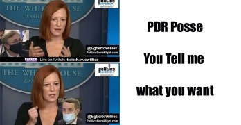 White House media lack of critical thought - PDR Posse, Tell me what you want to talk about
