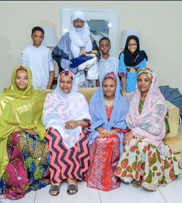Former Emir, Sanusi receives new born babygirl from Fourth Wife [PHOTOS]