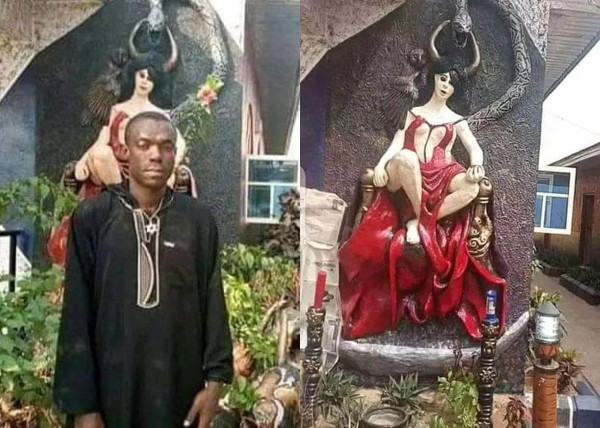 Abia residents protest over release of Church of Satan founder