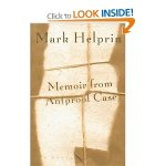 Memoir from Antproof Case by Mark Helprin
