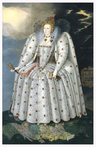 Queen Elizabeth, 1592 (click to enlarge)