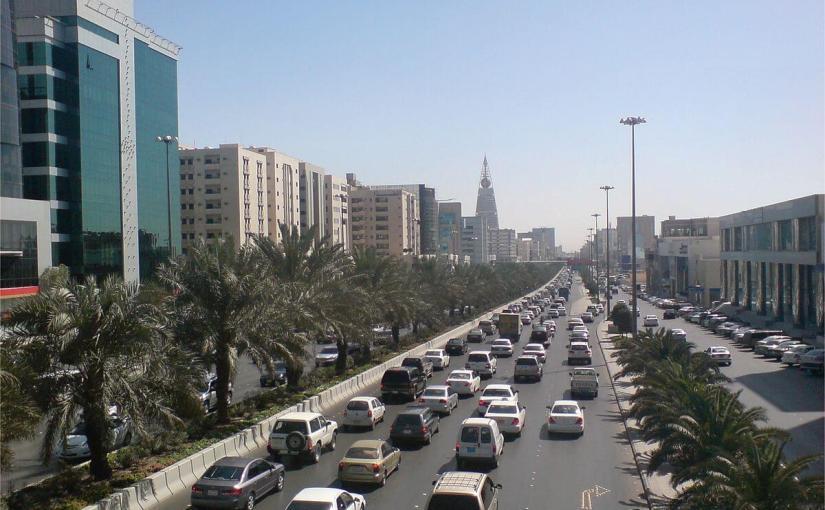 Straße in Saudi-Arabien
