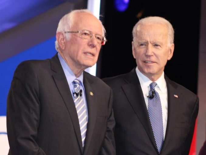 Bernie Sanders and Joe Biden at South Carolina Democratic Debate (Photo Credit: Sidney Evans / Politisite