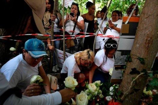 Місце вбивства Ванеси Кампос у Булонському лісі