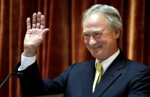 Lincoln Chafee announces his run for the Presidency.