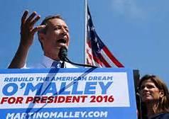 Martin O'Malley announces his run for the Presidency