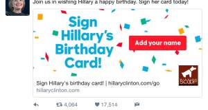 Hillary's Birthday Message