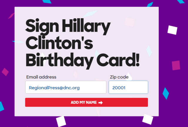 Hillary Clinton Birthday