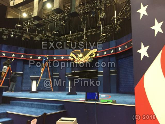 Debate Stage setup