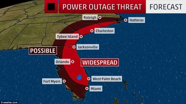 Hurricane Matthew Power Outage