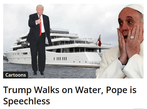 Trump Walks on Water