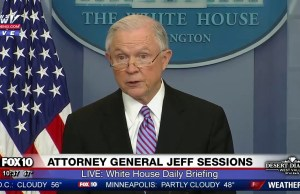 Attorney General Jeff Sessions Announces