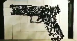 2nd Amendment Gun Mobil Art - Fascinating