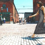 The Distillery District is a historic and entertainment area located east of downtown Toronto. The district features more than 40 heritage buildings and 10 streets. It is considered the largest collection of Victorian-era industrial architecture in North America.