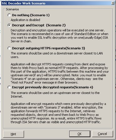 Using SSL Decoder to inspect outbound HTTPS traffic on ISA Server 2006 – Part 2 (5/6)