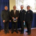 Konny Bröker - IPA Selm, Willi Kleimann - Polizeistiftung, Michael Frücht - Leiter LAFP, Johannes Gospos - Polizeipfarrer Bistum Münster
