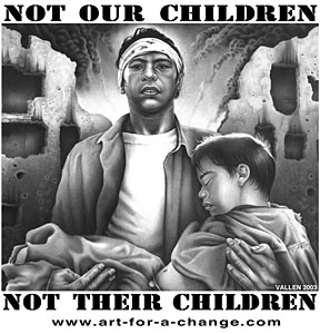 Mark Vallen. Not our children, not their children