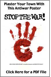 Stop the War poster