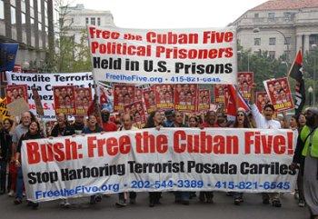 Free the Five protest. Washington D.C.