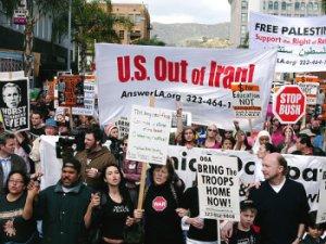 antiwar protest. photo Travis Wilkerson