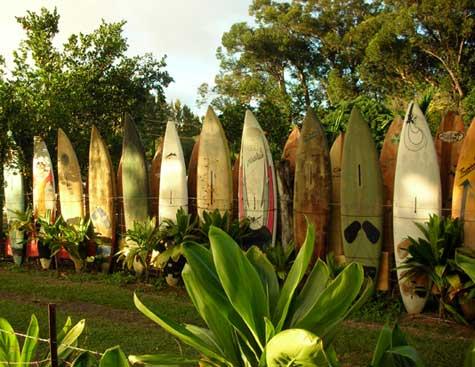 Surfboard fence, Haiku, Maui