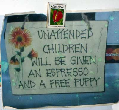 sign at Grandma's Coffee House in Keokea